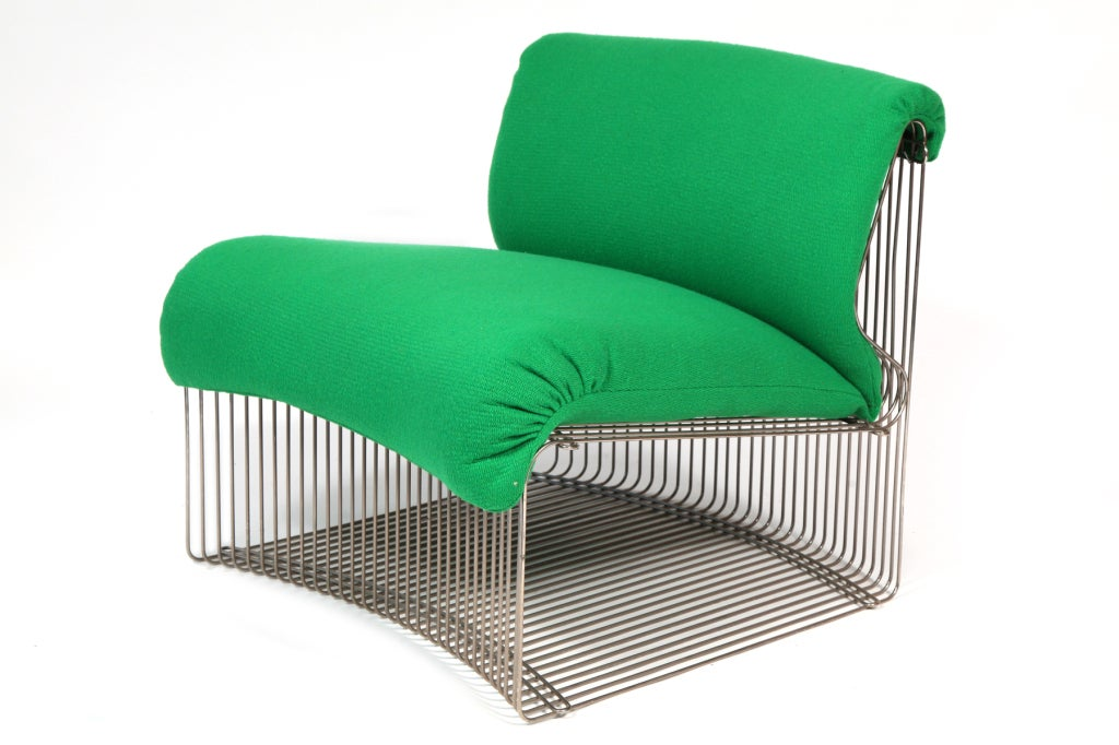Stunning 7 piece Verner Panton Pantonova seating system for Fritz Hansen circa 1971. This versatile example can be used as individual chairs, a semi circular sectional or as a few loveseats. There are six sections of the same size and one smaller