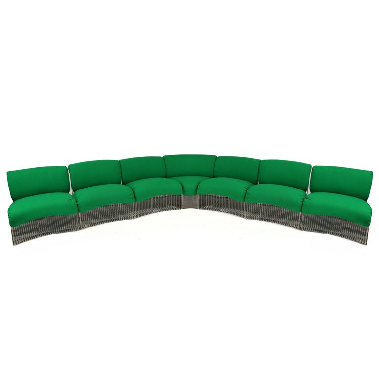 Rare Verner Panton Pantonova Seating System For Sale