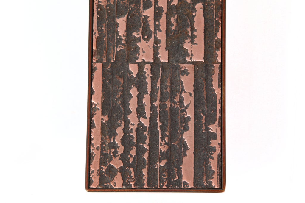 American Large Scale Copper and Steel Door Handles For Sale