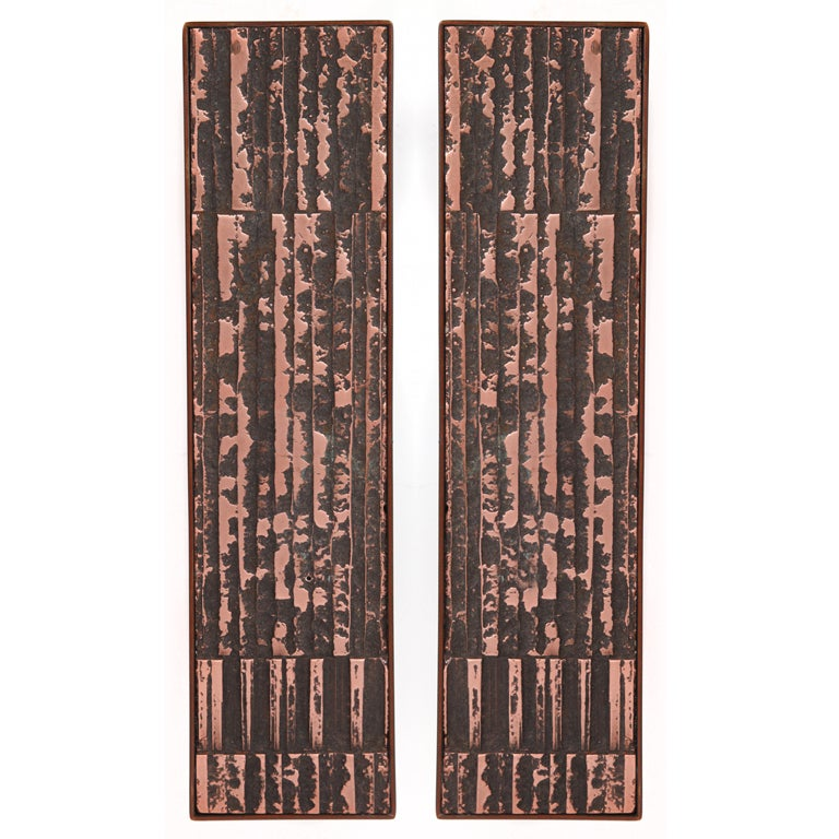 Large Scale Copper and Steel Door Handles For Sale at 1stdibs