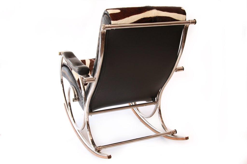 Woodard Steel & Pony Rocking Chair 6