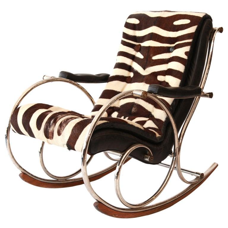 Woodard Steel & Pony Rocking Chair 1