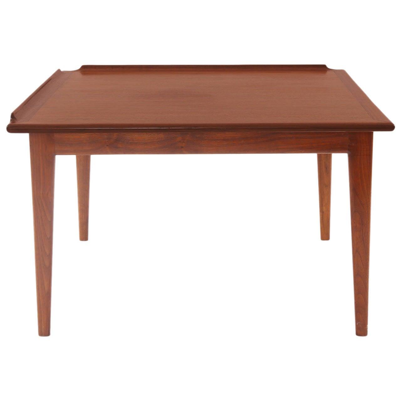 Finn Juhl Oiled Teak Side Table For Sale