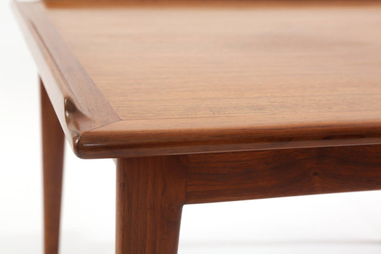Mid-Century Modern Finn Juhl Oiled Teak Side Table For Sale