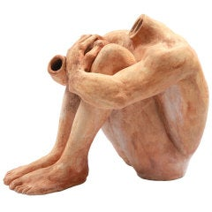 Lifesize Ceramic Figural Sculpture
