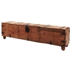 Sabino Wood and Patinated Iron Blanket Chest