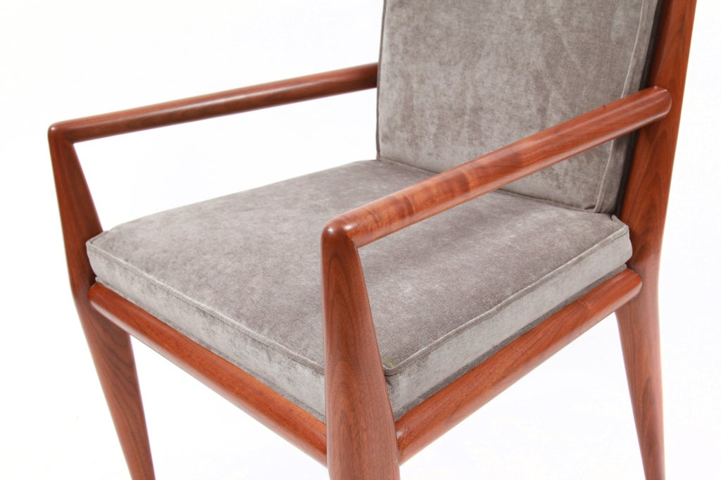 Gibbings For Widdicomb Walnut Armchairs For Sale At 1stdibs