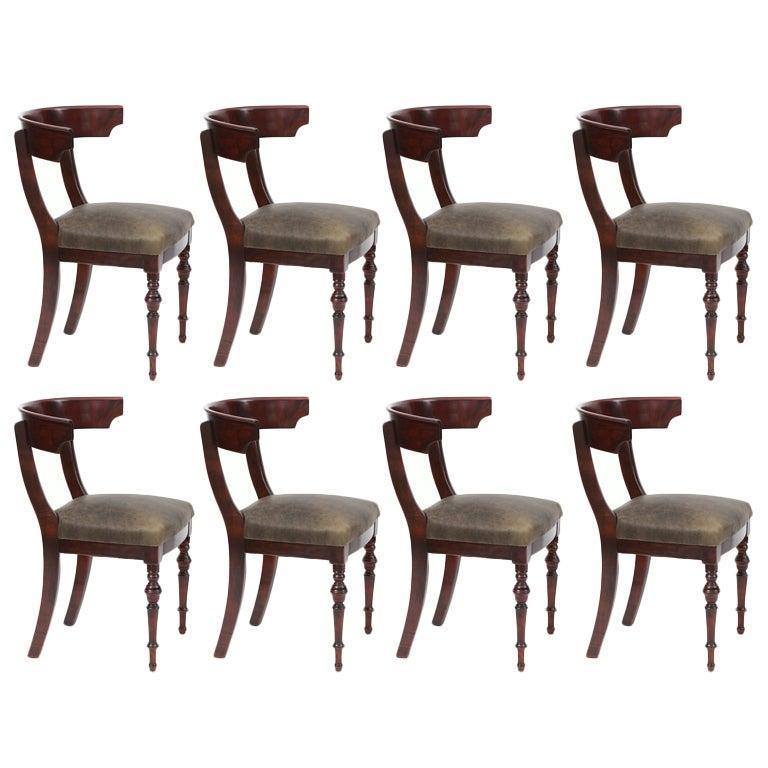 Modern klismos chair - Eight Incredible Mahogany And Leather Klismos Dining