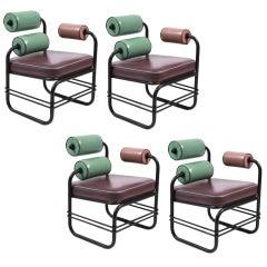 Four Custom Lounge Chairs by Jordan Mozer