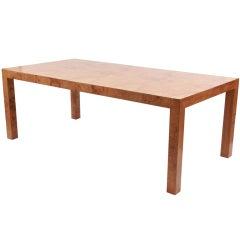 Milo Baughman Thayer Coggin Burl Dining Table