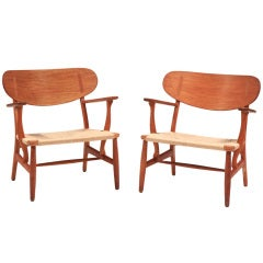 Hans Wegner for Carl Hansen Lounge Chairs