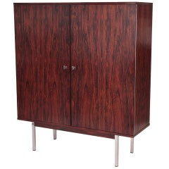 Stunning Rosewood and Steel Danish Highboy