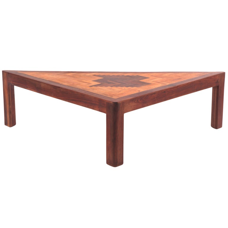 Raymond connor walnut and oak cocktail table for sale at for Cocktail tables and chairs for sale