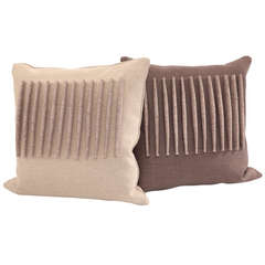 Pair of Wool Felt & Down Pillows by David Linley