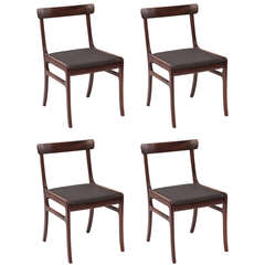 Ole Wanscher Mahogany Dining Chairs