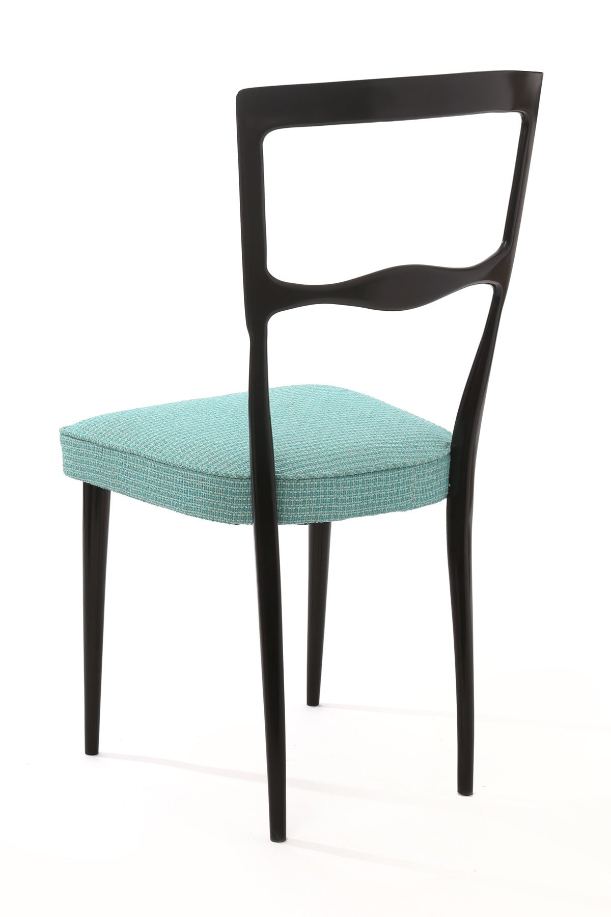 Six Ebonized Maple Italian Dining Chairs For Sale at 1stdibs