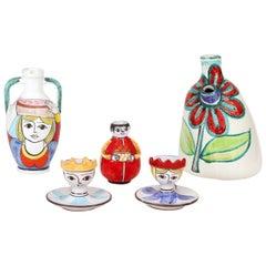 Italian DeSimone 1960s Pottery Grouping