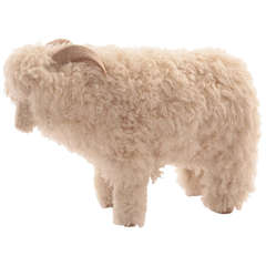 Pair of Life-size Sheep Ottomans or Sculptures