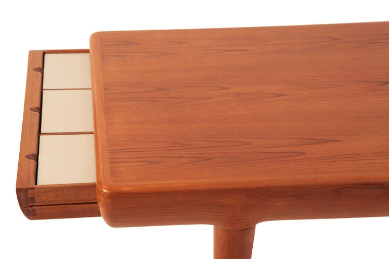 Johannes Andersen Teak Cocktail Table With Drawers For Sale At 1stdibs