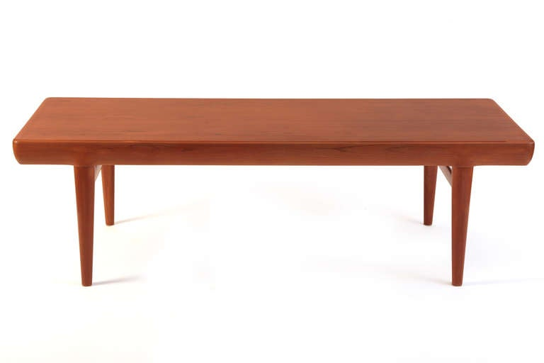 Johannes Andersen Teak Cocktail Table with Drawers at 1stdibs
