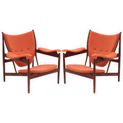 Pair of Chieftain Chairs after Finn Juhl
