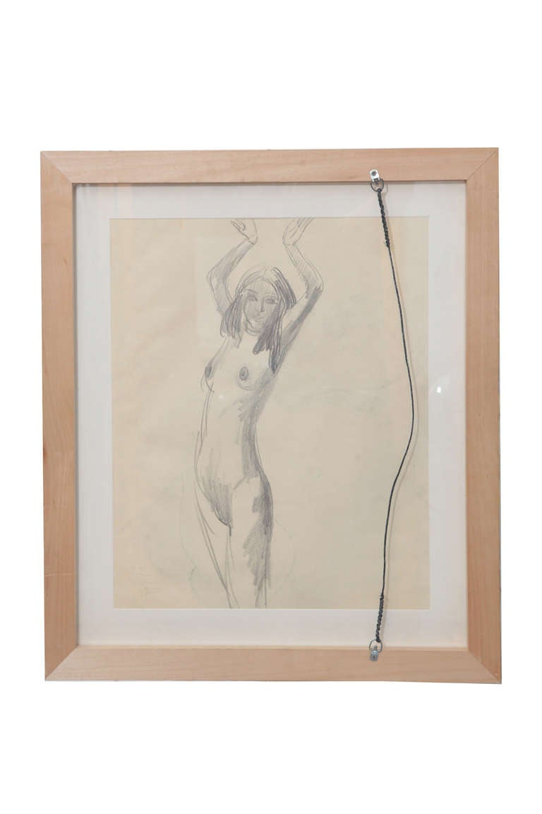 Sir jacob epstein pencil drawings in excellent condition for sale in phoenix az