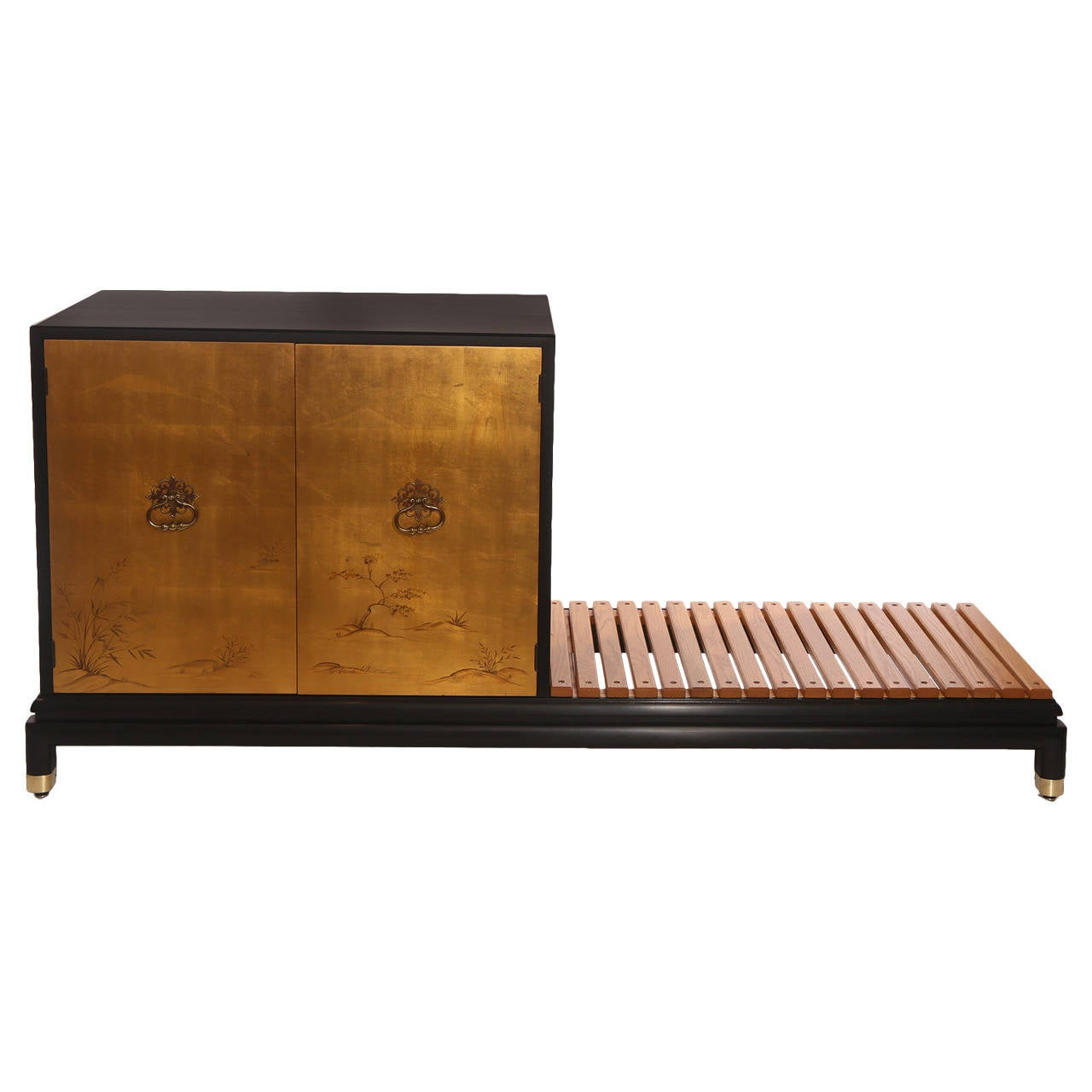 Renzo Rutili for Johnson Chest with Bench For Sale