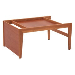 Sculptural Teak & Mahogany Serving Tray