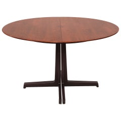 Sculptural Edward Wormley for Dunbar Walnut Dining Table