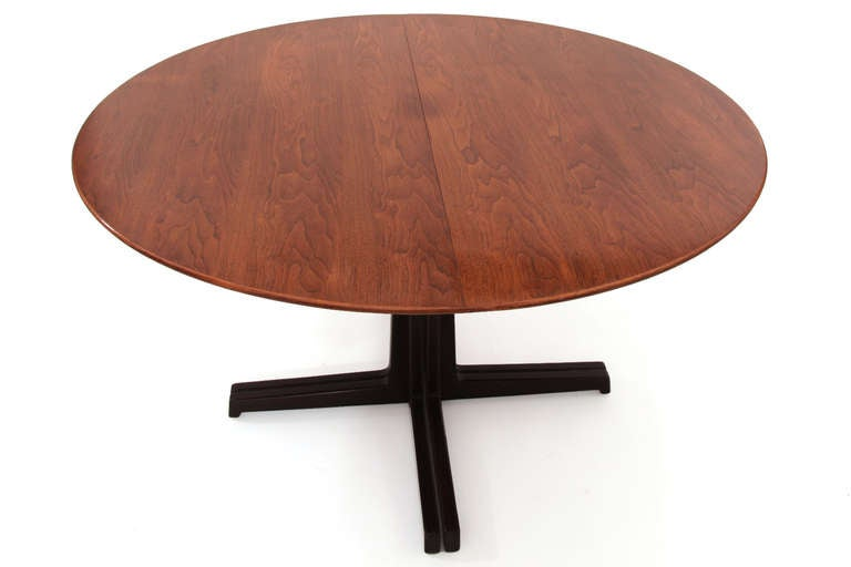 Mid-Century Modern Sculptural Edward Wormley for Dunbar Walnut Dining Table For Sale
