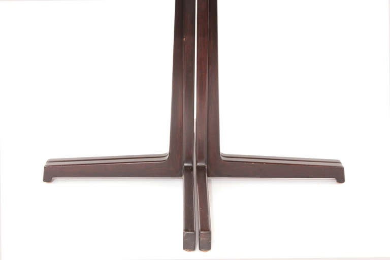 American Sculptural Edward Wormley for Dunbar Walnut Dining Table For Sale