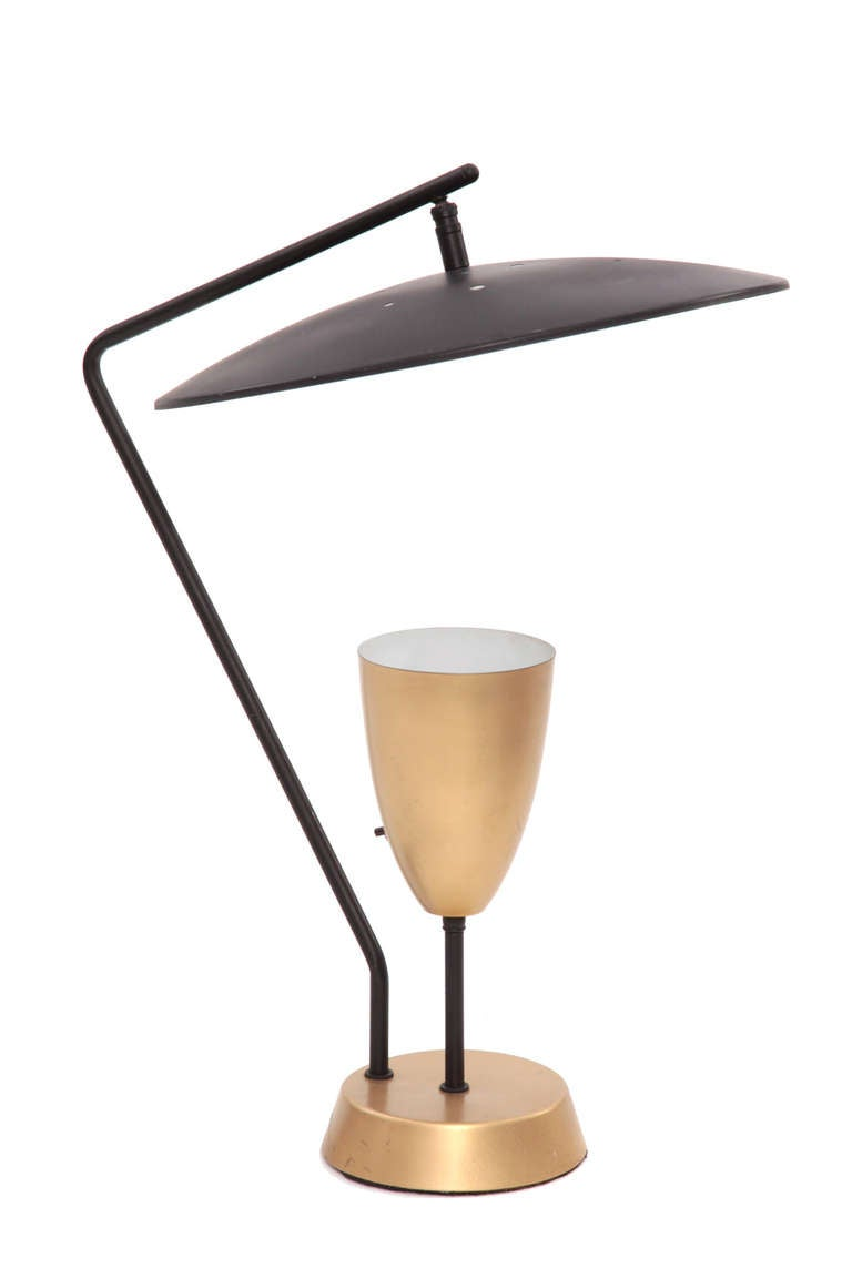 Architectural Large Scale Pivoting Table Lamp At 1stdibs