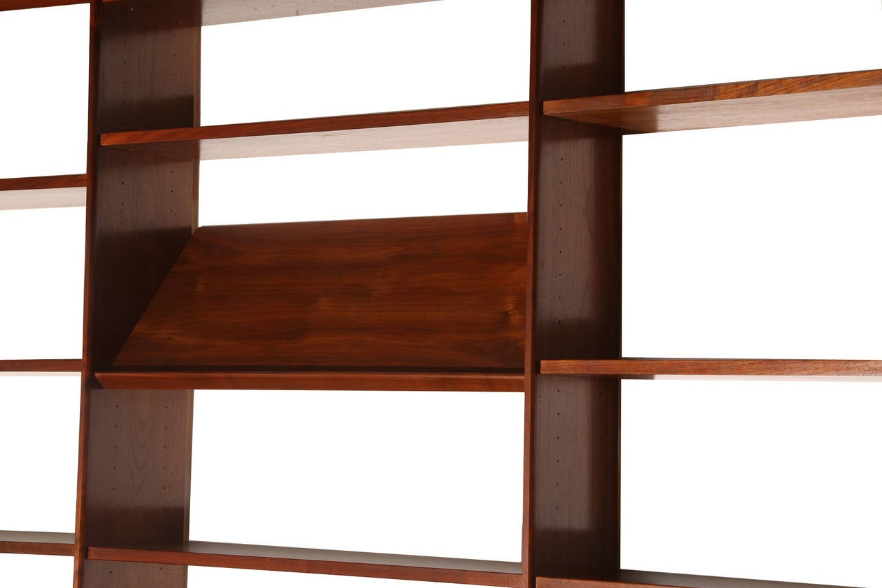 Scandiline Oiled Walnut Wall Unit And Desk At 1stdibs