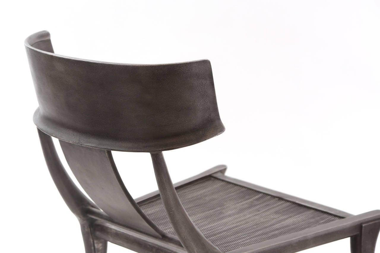 Pair of Michael Taylor Aluminum Klismos Lounge Chairs at 1stdibs