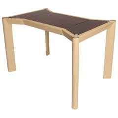 Rosewood Brass and Lacquered Italian Game Table