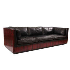 Stunning and Rare Milo Baughman Rosewood Case Sofa
