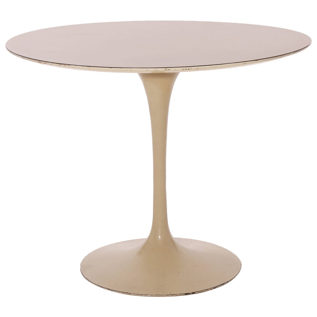 Early iron base tulip dining table by eero saarinen at 1stdibs for Tulip dining table