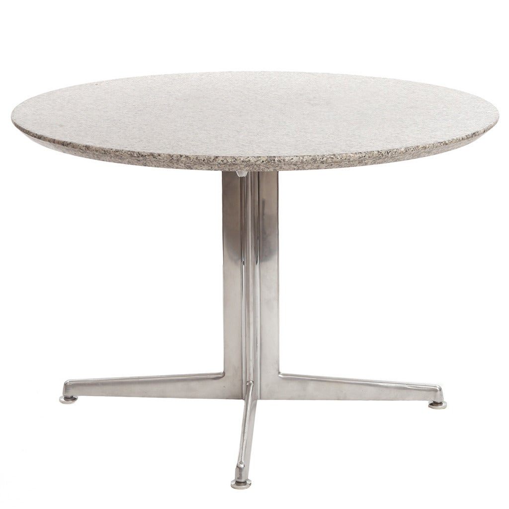 Beta Granite And Steel Dining Table For Sale At 1stdibs