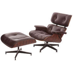 Eames for Herman Miller Rosewood Lounge Chair and Ottoman
