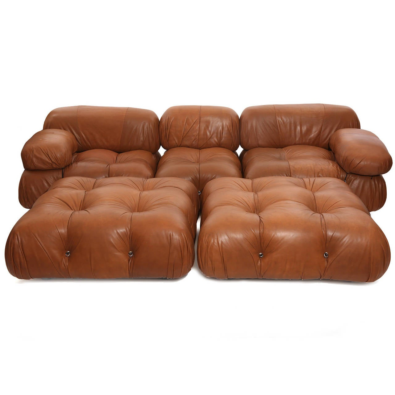 rare mario bellini camaleonda sofa and ottomans at 1stdibs. Black Bedroom Furniture Sets. Home Design Ideas
