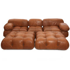 Rare Mario Bellini Camaleonda Sofa and Ottomans