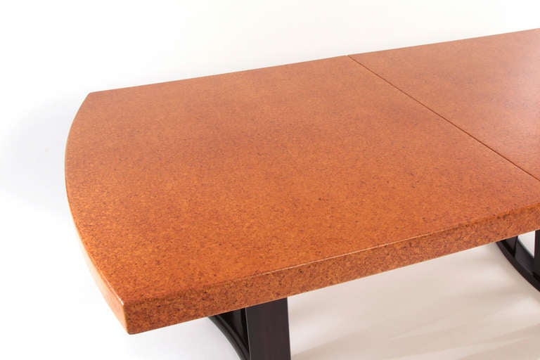 Stunning Paul Frankl Cork and Mahogany Dining Table 4
