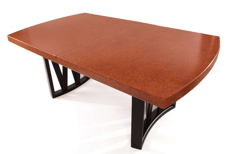 Stunning Paul Frankl Cork and Mahogany Dining Table 5