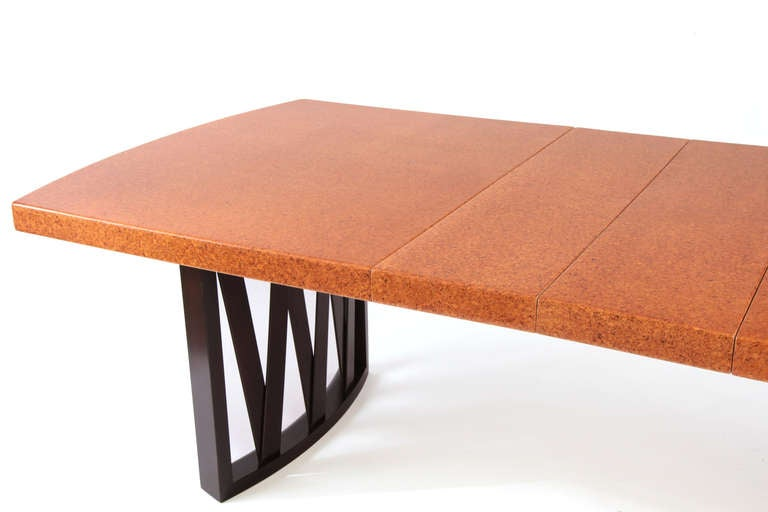 Stunning Paul Frankl Cork and Mahogany Dining Table 3