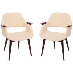 Stunning Pair of  Occasional Chairs by Arthur Umanoff