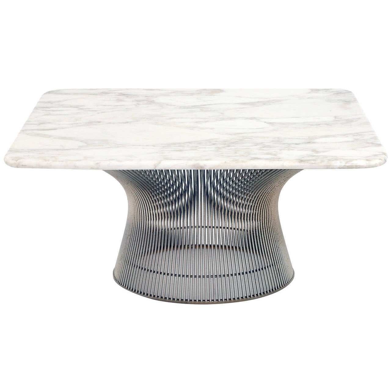 Warren Platner Knoll Custom Marble Cocktail Table For Sale At 1stdibs