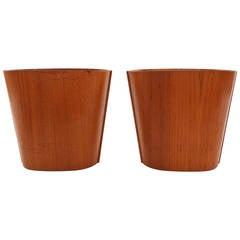 Pair of Teak Waste Baskets from Denmark