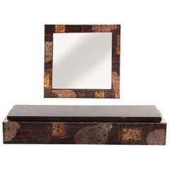 Custom Paul Evans Wall Shelf and Mirror