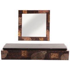 Custom Paul Evans Wall Shelf and Mirror