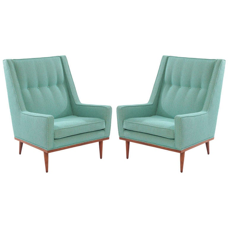 Early Milo Baughman Lounge Chairs at 1stdibs
